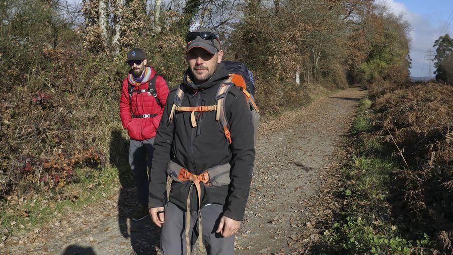 Un peregrino gallego hace 6 rutas jacobeas desde el pasado mes de abril